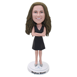 Custom Bobblehead Hands On Your Chest Personalized Gifts For Boss - Abobblehead.com