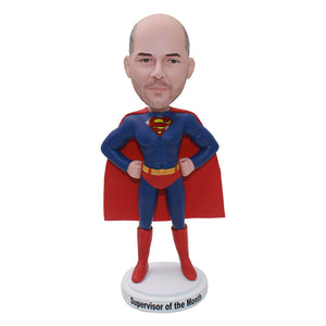 Custom Superman Bobblehead Gifts For Adults, Engraved Superman Action Figure - Abobblehead.com