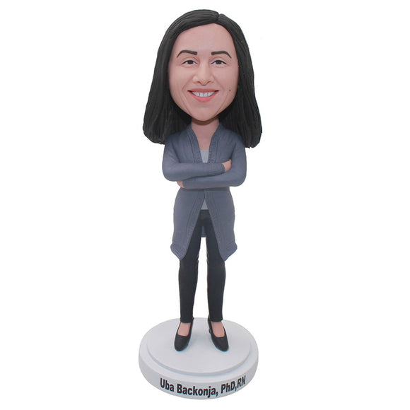 Custom Bobblehead Hands on Hips Unique Birthday Gift For Her - Abobblehead.com