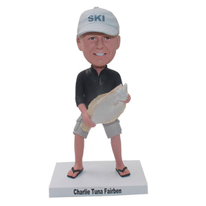 Personalized Fisherman Bobblehead, Best Catch Fisherman Figure Custom - Abobblehead.com