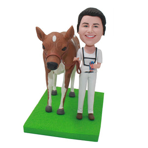 Custom Horse Bobbleheads Doll, Personalized Gifts for Women Who Love Horses - Abobblehead.com