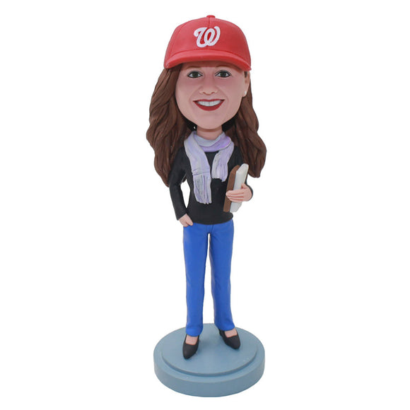 Custom Girl Bobblehead Best Christmas Gifts For Elementary Teachers - Abobblehead.com