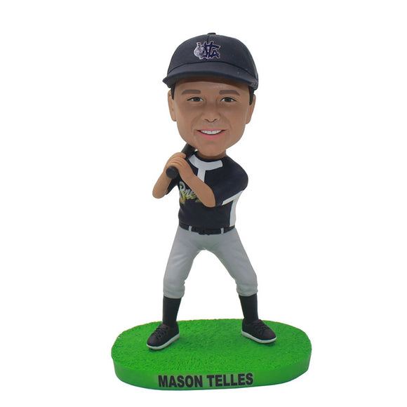 Custom Baseball Bobble Head Of Yourself, Custom Best Gift for Young Baseball Player - Abobblehead.com
