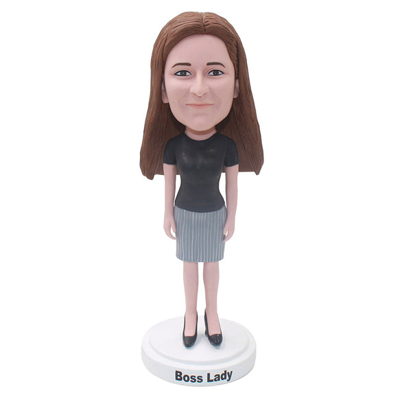 Custom Bobbleheads Gril Unique Gifts, Personal Bobble Head That Looks Like You - Abobblehead.com