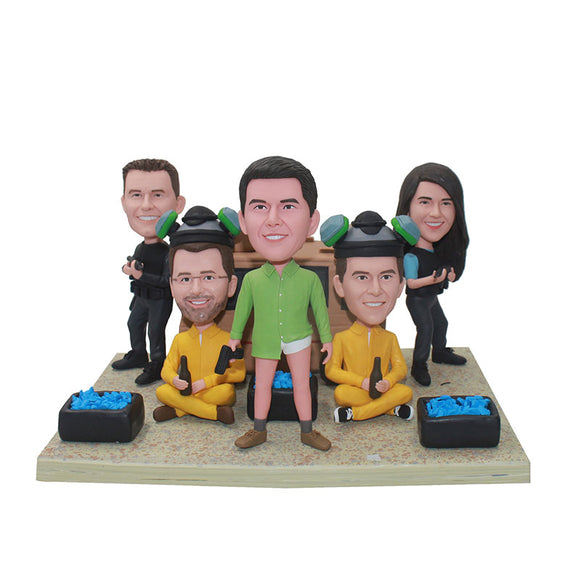 Custom Counter-Strike in the Wild Bobblehead, Personalized Outdoor Sports for Five People - Abobblehead.com