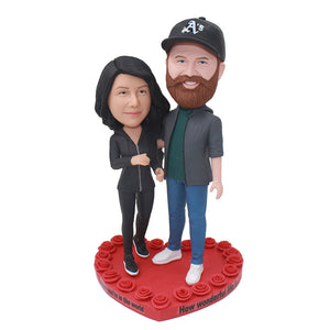 Custom Bobblehead Couples Dolls Of Yourself, Personalized Bobblehead Couple For Wedding - Abobblehead.com