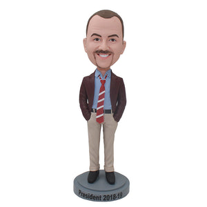 Personalized Bobbleheads Gifts For Your Boss Male, Christmas Gifts For Boss - Abobblehead.com