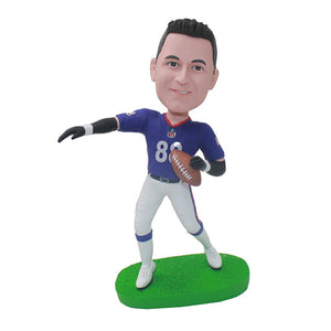 Custom Football Player Bobbleheads That Look Like You, Young Football Goalkeeper Bobblehead - Abobblehead.com