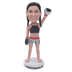 Personalized Female Boxer Champion Bobblehead That Look Like You Sculpture From Photos - Abobblehead.com