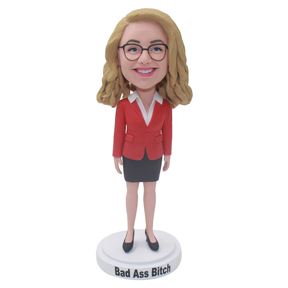Create Your Own Bobblehead That Look Like You, Custom White Collar Bobblehead Career Hero - Abobblehead.com