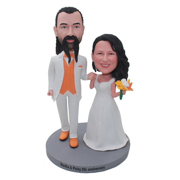 Best Custom Bobbleheads Wedding Cake Toppers, Custom Wedding Bobblehead Cake Toppers - Abobblehead.com
