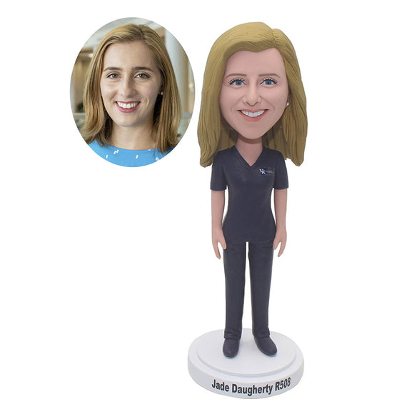 Create Your Own Bobbleheads Doll That Looks Like You 100% Handmade - Abobblehead.com