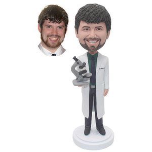 Custom Laboratory Bobblehead For Doctor Laboratory Professionals Christmas Gifts - Abobblehead.com