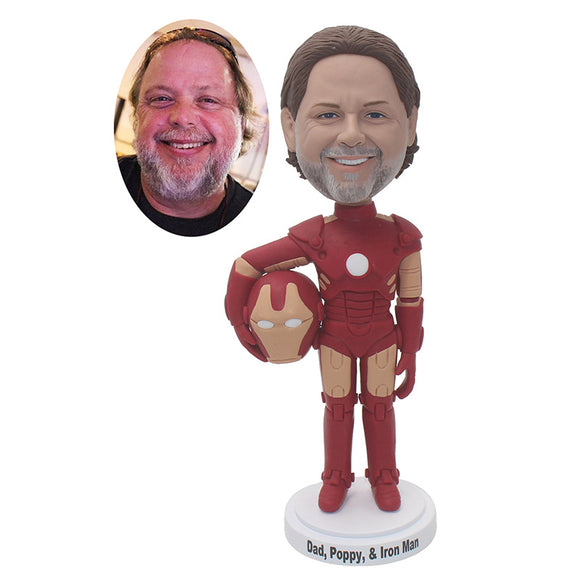 Custom Iron Man Bobblehead From Your Photos That Look Like You, Custom Superhero Bobblehead - Abobblehead.com