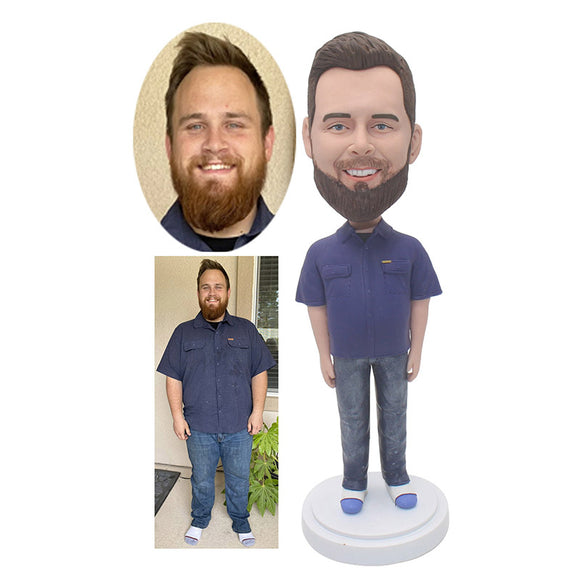 Custom Staff Uniform Bobbleheads, Design Your Own Bobblehead - Abobblehead.com