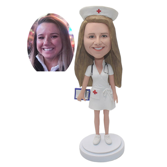 Custom Female Nurse Bobblehead Christmas Gifts For a Nurse - Abobblehead.com