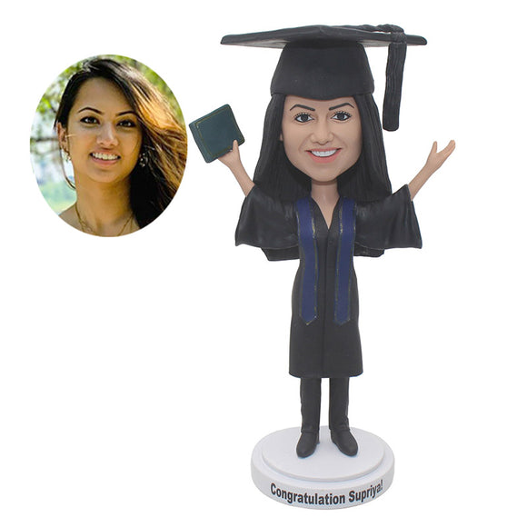 Personalized Doctor Hat Bobbleheads For Graduation Gift, Custom College Student Bobbleheads - Abobblehead.com
