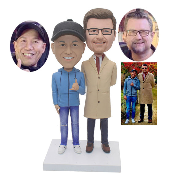 Custom 2 Person Bobblehead Good Gifts For Business Partners Friends - Abobblehead.com