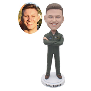 Customized Dolls Action Figure Soldier For Air Force Navy Army, Personalized Soldier Bobbleheads Of Yourself - Abobblehead.com