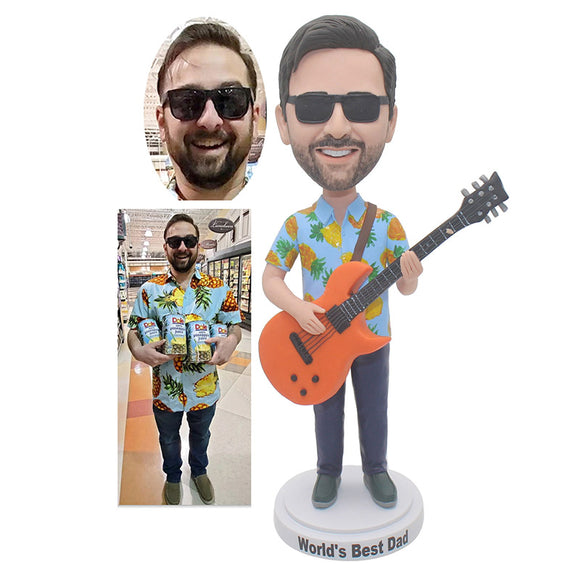 Custom Guitar Bobbleheads Gifts For Guitar Lovers, Personalized Bobblehead For Guitar Player - Abobblehead.com