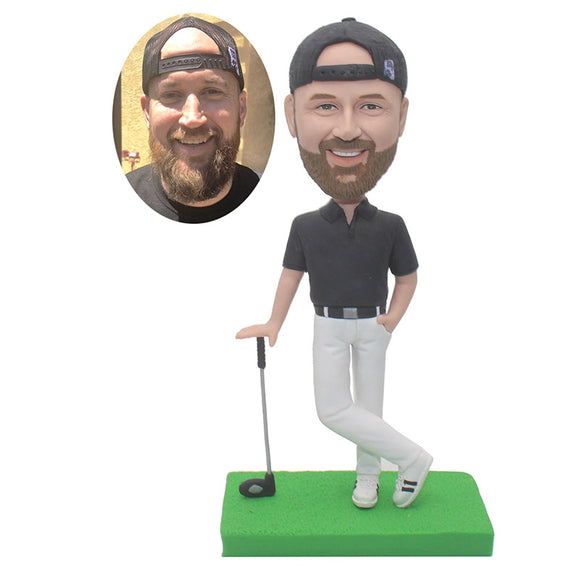 Create Your Own Doll That Looks Like You, Personalized Golf Bobbleheads - Abobblehead.com