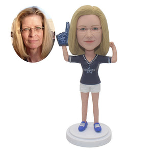 Custom Bobblehead Thumbs Up Women, Personalized Coach Bobblehead - Abobblehead.com