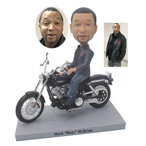 Custom Motorcycle Bobblehead, Personalized Motorcycle Gifts For Boyfriend - Abobblehead.com