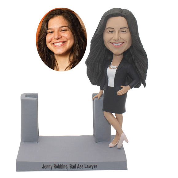 Custom Bobblehead Business Card Holder, Personalized Business Card Holder Bobblehead - Abobblehead.com