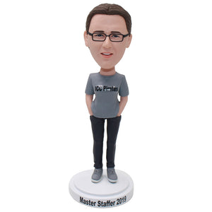 Custom Bobbleheads T Shirt Female, Create Your Own Bobblehead - Abobblehead.com