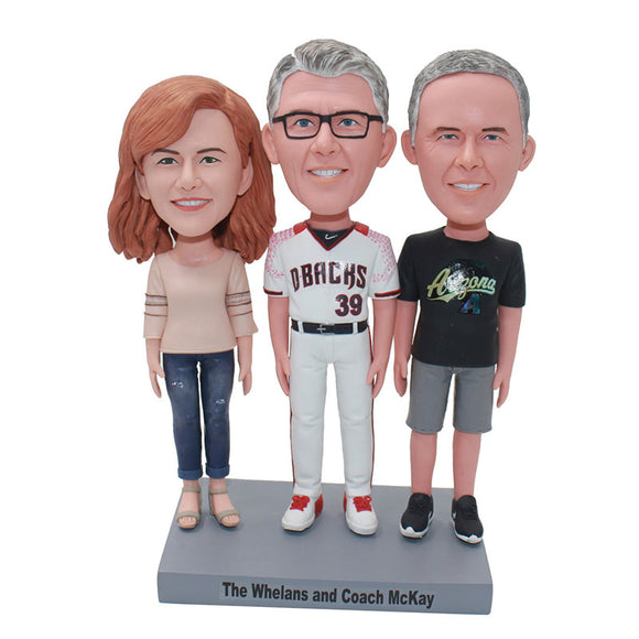 Custom Family Bobbleheads, Create My Own Family Bobblehead - Abobblehead.com
