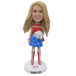 Custom Blonde Beauty Bobbleheads That Looks Like My Girlfriend - Abobblehead.com
