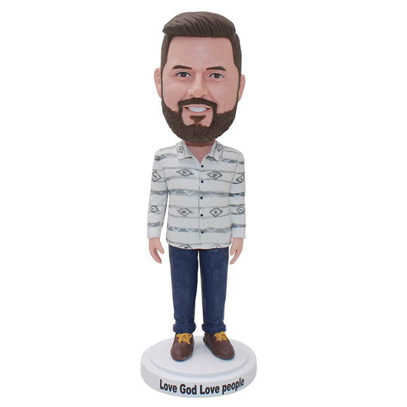 Custom Bobblehead Gift For Boyfriend, Custom Christmas Gifts For Boyfriend - Abobblehead.com