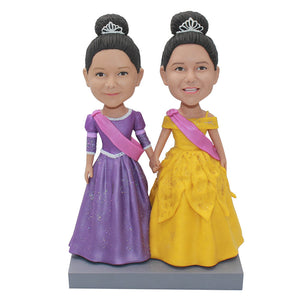 Personalized Bobbleheads Women in Dress Funny Gifts For Sisters - Abobblehead.com