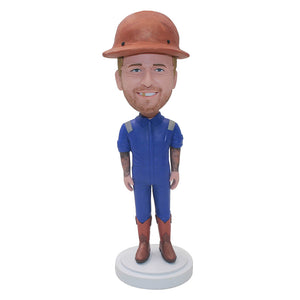 Custom Construction Worker Bobbleheads Christmas Gifts for Workers - Abobblehead.com