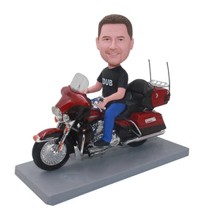 Custom Bobblehead On Motorcycle, Personalized Motorcycle Gifts For Boyfriend - Abobblehead.com