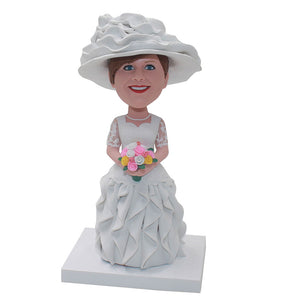 Personalized Elegant Lady Bobblehead, Custom Beautifull Gifts For Women - Abobblehead.com