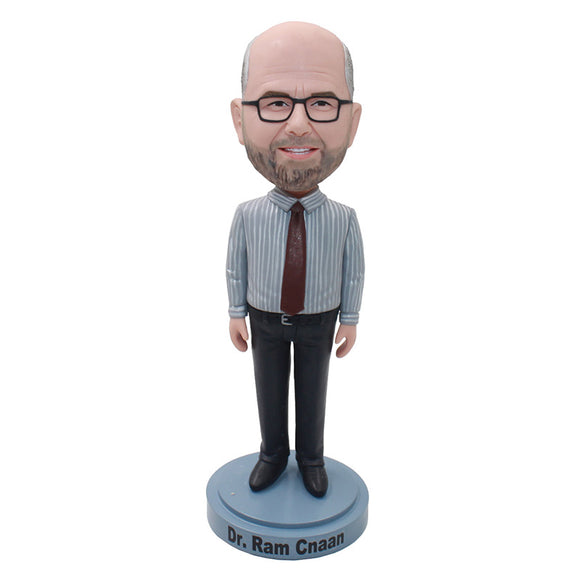 Custom Office Bobblehead Personalized Gifts For Boss From His Photos - Abobblehead.com