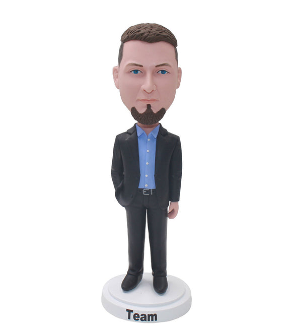 Custom Bobblehead Man Company Gifts, Personalized Boss Bobbleheads - Abobblehead.com