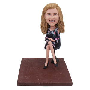 Make A Bobblehead From Her Photos Personalized Unique Gifts For Boss - Abobblehead.com