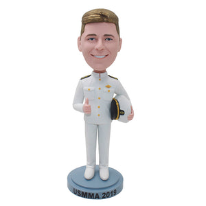 Navy Pilot Personalized Bobblehead, Custom Navy Pilot Bobblehead, Customized Dolls Action Figure Soldier - Abobblehead.com
