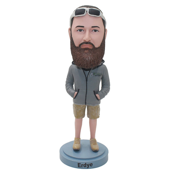 Custom Bearded Bobblehead Personalized Gifts For Him Best Likeness - Abobblehead.com