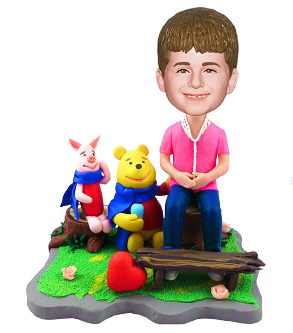 Custom Kids Bobbleheads Look Like Me Baby Dolls,  Make A Bobblehead of Your Kid, Custom Bobbleheads Winnie The Pooh and Boy Dolls - Abobblehead.com