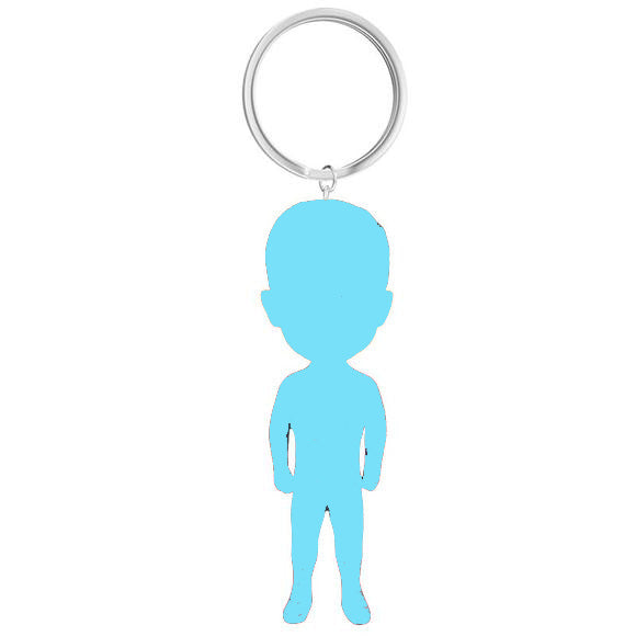 Custom Cool Keychains, Personalized Keychains Bobbleheads Head to Toe Custom Man Or Women - Abobblehead.com