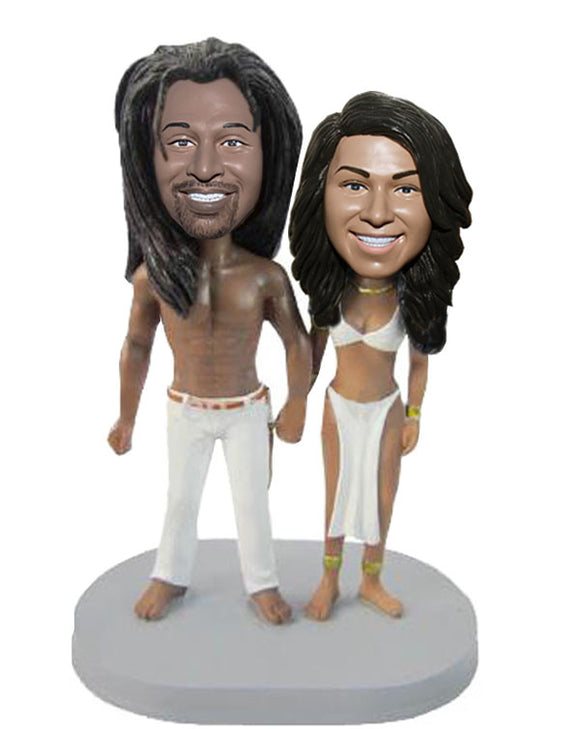 Custom Savage Couple Bobbleheads, Personalized Couples Bobblehead Gifts - Abobblehead.com