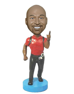 Custom Running Bobblehead, Personalized Runner Bobblehead Doll From Your Photo - Abobblehead.com
