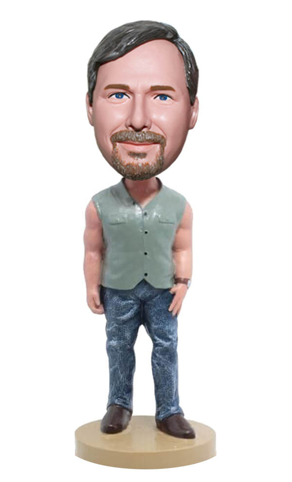 Bobblehead Custom Made Muscle Body, Personalized Muscleman Poses on Bobbleheads - Abobblehead.com