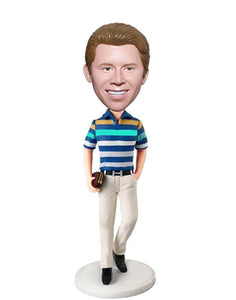 Personalized Bobbleheads Businessman, Custom Boss Bobbleheads From Photo - Abobblehead.com