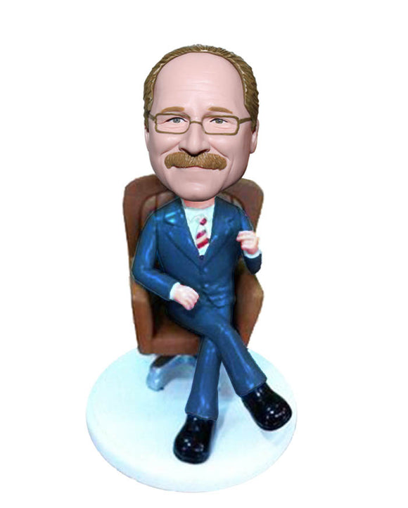Custom Bobblehead For Boss Day Gifts for Men, Unique Birthday Gift For Boss Male - Abobblehead.com