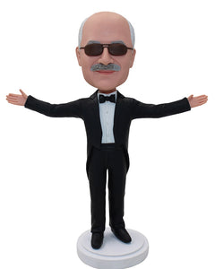 Customize Conductor Bobblehead, Personalized Music Conductor Nurcracker Figurine - Abobblehead.com