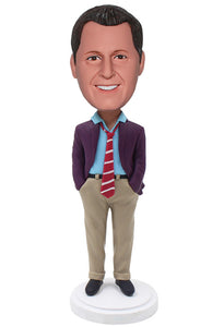 Custom Male Ceo Bobbleheads Businessman, Unique Gift Idea For Men Supervisor - Abobblehead.com
